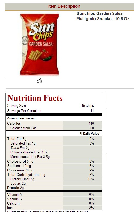 Diet Mountain Dew Nutrition Facts Images